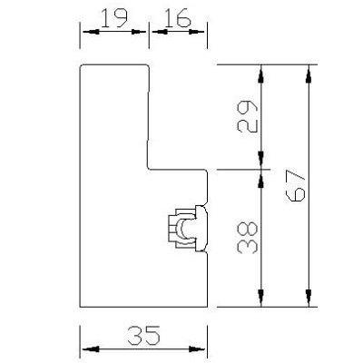 YLC67(DEEP PLAIN L FRAME 67mm)