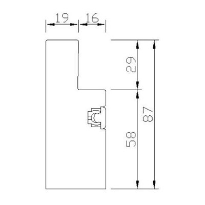 YLC87(DEEP PLAIN L FRAME 87mm)